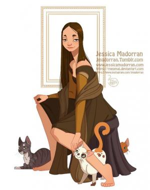 Jessica madorran character design paris 2018 mona lisa artstation